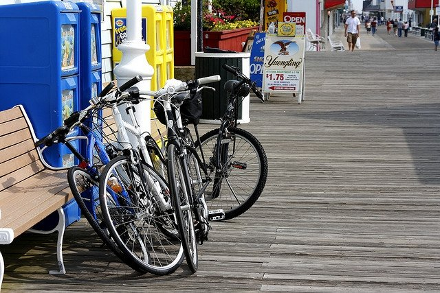 Bicycles on Boardwalk